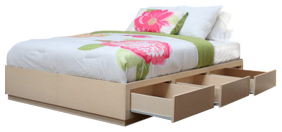 Queen Captains Bed With 6 Drawers Contemporary Bed