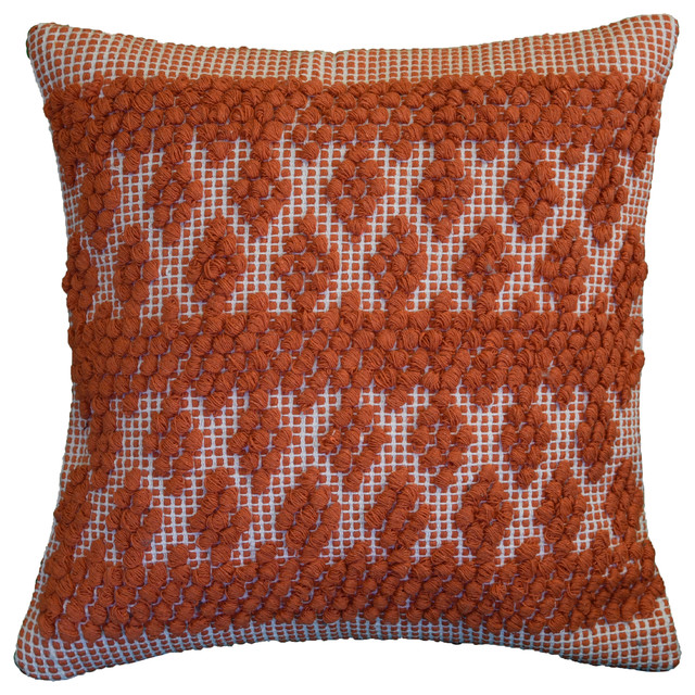 "Gray Temple Wall Boho Pillow, Poly Fill Insert, 20""x20""."