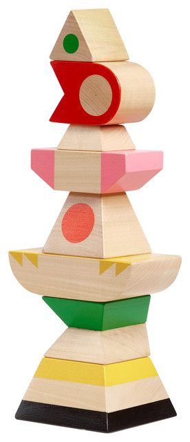 Handmade Totem Wooden Stacking Toy by Oliver Helfrich
