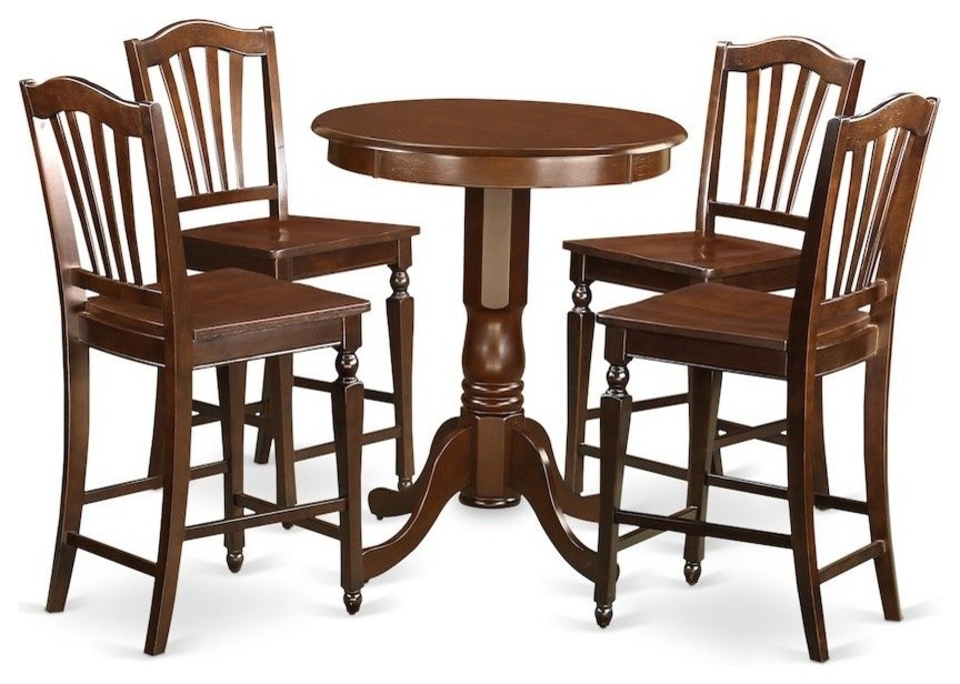 5 Piece Counter Height Set High Top Table And 4 Kitchen Bar Stool