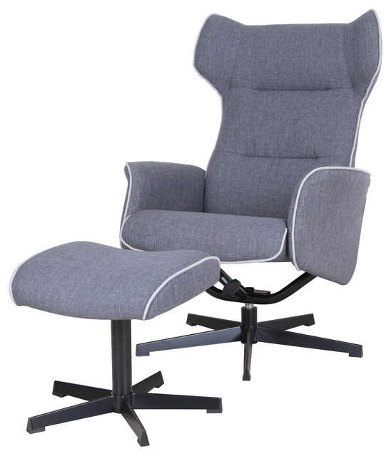Aldric Swivel And Recliner Lounge Chair With Ottoman
