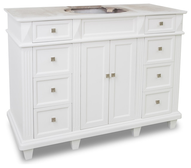 46 bathroom vanity cabinets 46 7 8 in douglas white vanity transitional bathroom 15317