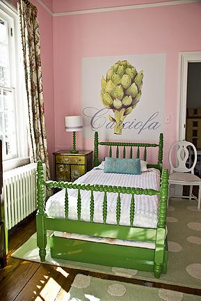 Casart Artichoke Installation eclectic bedroom