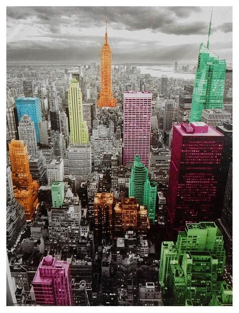 High-Lights Of New York Skyline Canvas Wall Art.