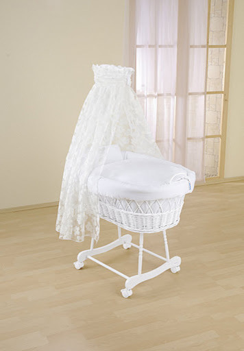 Gayle drape crib contemporary cots cribs and cot beds for Drape stand for crib