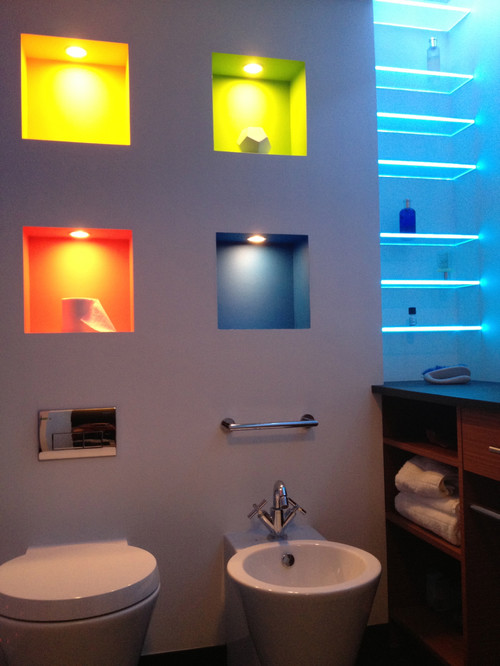 Lighted Tub Shower Niche
