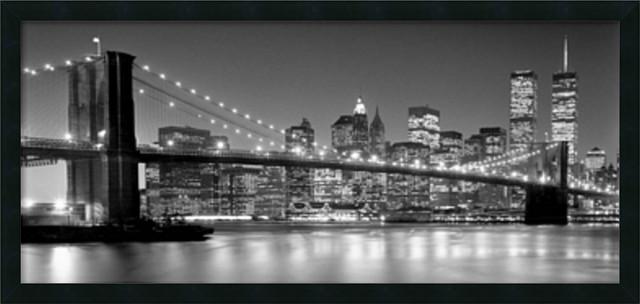 Henri silberman brooklyn bridge framed art print 38x18 henri silberman brooklyn bridge framed art print malvernweather Gallery