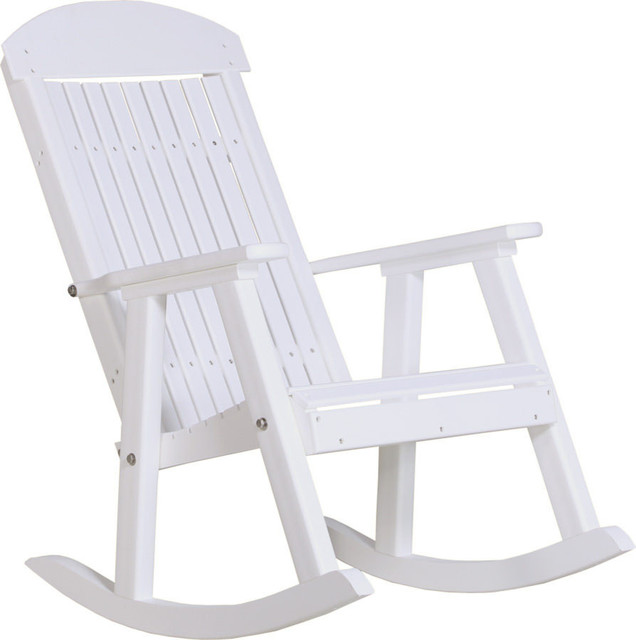 Outdoor Poly Porch Rocker Beach Style Outdoor Rocking