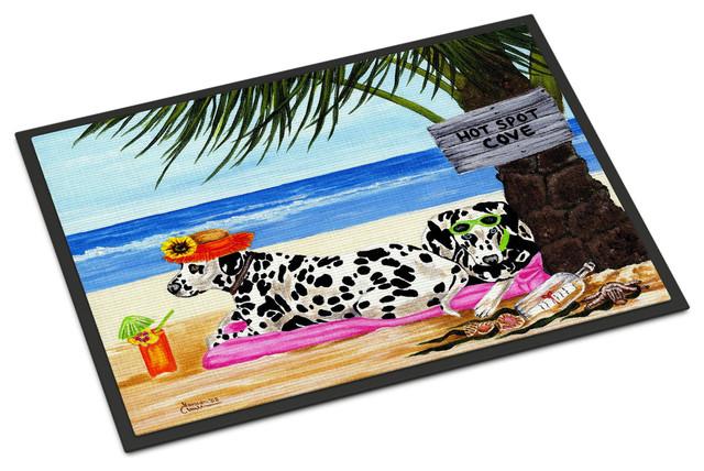 Hot Spot Cove Beach Dalmatian Indoor/outdoor Mat, 24x36.