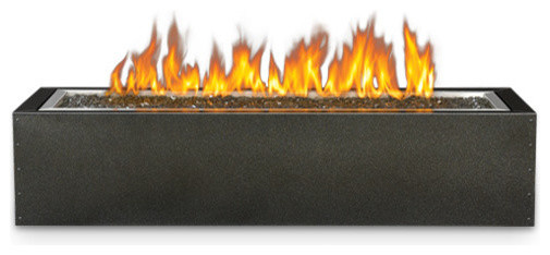 Patioflame Linear Gas Fire Pit Rectangle Electronic Ignition
