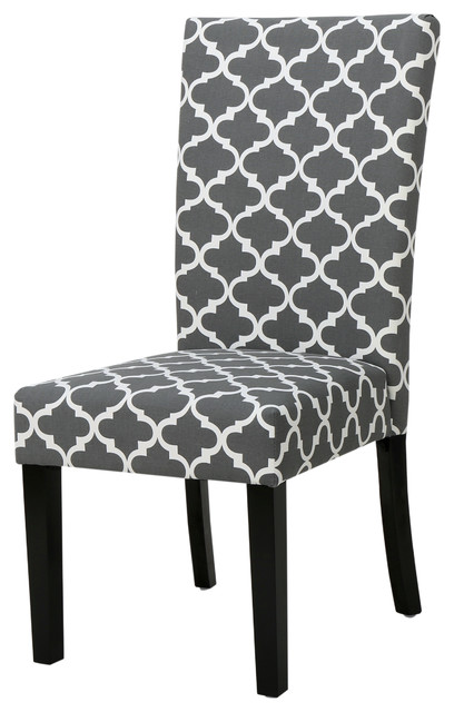 raleigh gray fabric dining chairs set of 2
