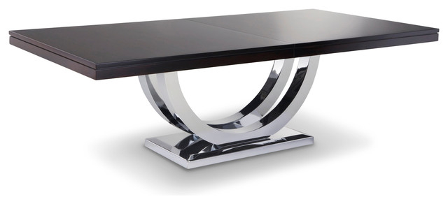 Metro chrome base dining table modern dining tables other by woodcraft furniture - Kitchen table bases ...