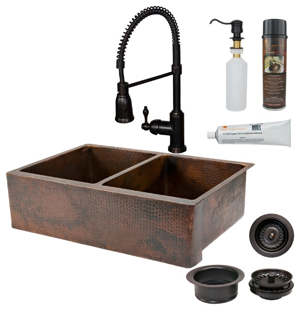 Premier Copper Products Ksp4 Ka50db33229 Kitchen Sink Faucet Accessories Traditional Kitchen Sinks By Directsinks
