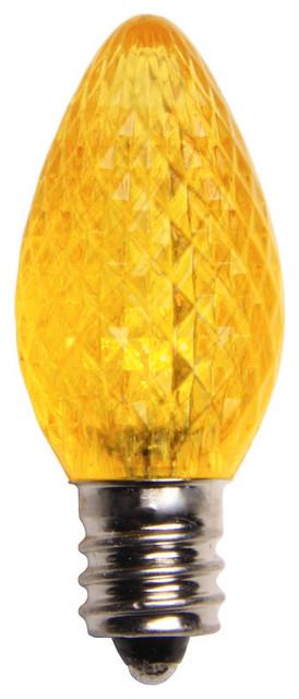 Yellow Led C7 Christmas Light Bulbs - Pack Of 25.