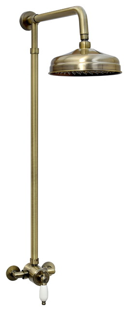 Enki Winchester Sequential Thermostatic Shower Set Classic Apron, Bronze, 20 cm