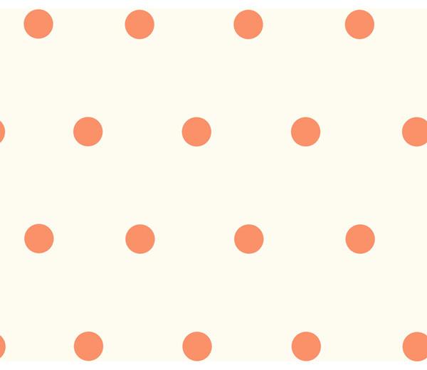 Kenley Orange Polka Dots Wallpaper Swatch