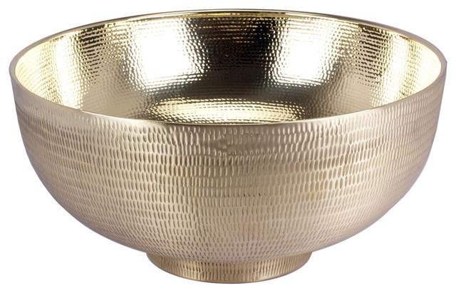 Kaas Au Carré Large Decorative Bowl, Bright Silver