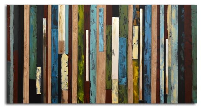Vertical Collage Hand painted Canvas Wall Art modern-artwork