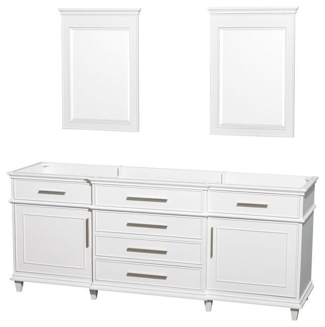 Wyndham Collection 80  Berkeley White Double Vanity  No Countertop  No Sink  bathroom. Wyndham Collection 80  Berkeley White Double Vanity  No Countertop