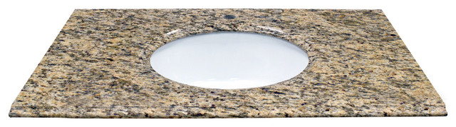 "37"" X 22"" Natural Granite Vanity Top, Santa Cecilia."