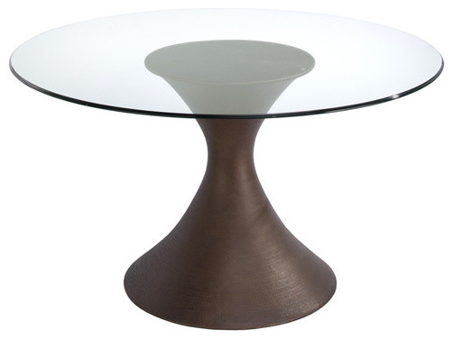 brownstone casablanca round dining table with a glass top contemporary dining tables - Glass Round Dining Table
