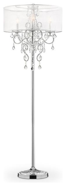 Crystal Chandelier Style Floor Lamp.