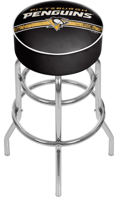 Nhl Chrome Barstool With Swivel Pittsburgh Penguins