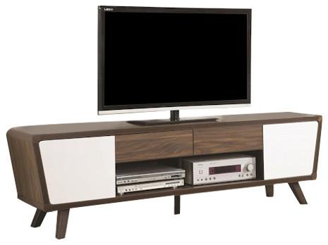 coaster 2 tone midcentury modern tv console reviews houzz. Black Bedroom Furniture Sets. Home Design Ideas