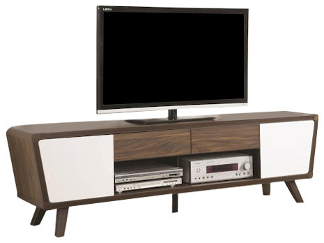 Coaster Entertainment Units 2 Tone Mid Century Modern Tv Console