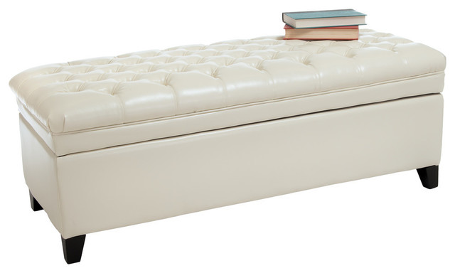 Wondrous Gdf Studio Barton Leather Storage Ottoman Bench Dailytribune Chair Design For Home Dailytribuneorg
