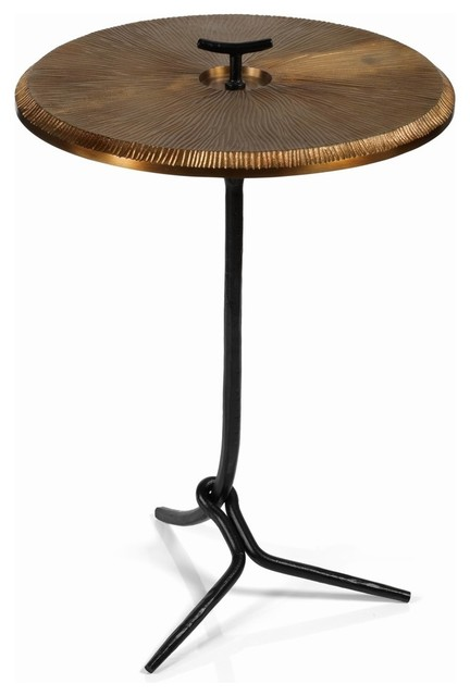 San Mateo 25 5 Tall Accent Table Bronze Top Side Tables And End By Zodax