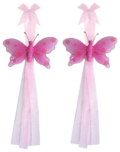 Shop Houzz | Bugs-n-Blooms Butterfly Tie Backs Dark Pink Jewel ...