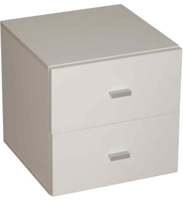 Caro, Drawer Container With 2 Drawers, Plastic Handles - Modern - Filing Cabinets - by Designs ...