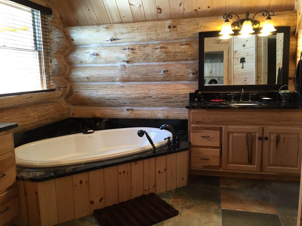 Rustic Hickory Bathroom
