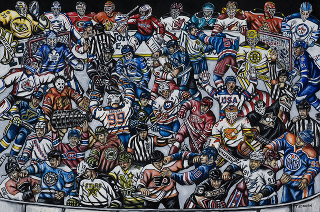 The Puck Stops Here Nhl Hockey Fan Art Contemporary