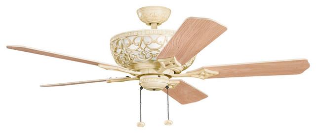 Cortez 4-Light Indoor Ceiling Fans, Aged White.