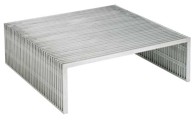 Amici stainless steel square coffee table contemporary coffee tables by advanced interior Metal square coffee table