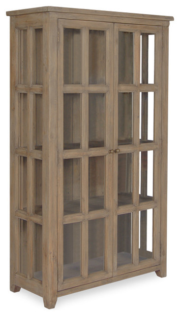 Coastal Solid Wood Display Cabinet - Rustic - China Cabinets And Hutches - New York - by Zin Home