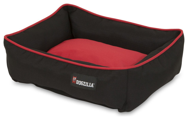 "Dogzilla 80379 22""x18"" Black/red Rectangular Lounger."