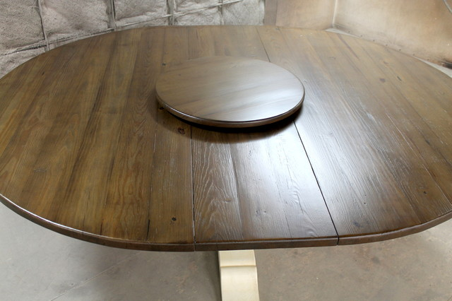 Amazing Round Extension Dining Table With Lazy Susan Country
