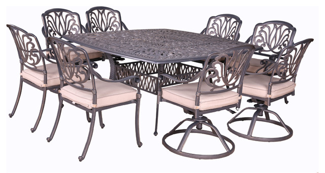 Phenomenal Athens 9 Piece Cuhsioned Dining Set 64 Square Table Alphanode Cool Chair Designs And Ideas Alphanodeonline