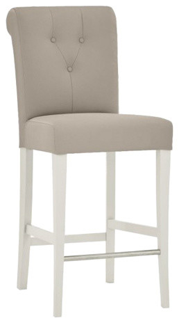 Montreux Soft Grey Painted Bar Stool, Upholstered, Soft Grey