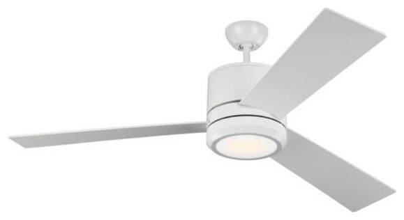 """Vision Max 56"""" Ceiling Fan, Rubberized White."""