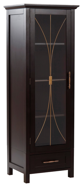 Linen Cabinet in Dark Espresso - Bathroom Cabinets And Shelves - by HoldNStorage