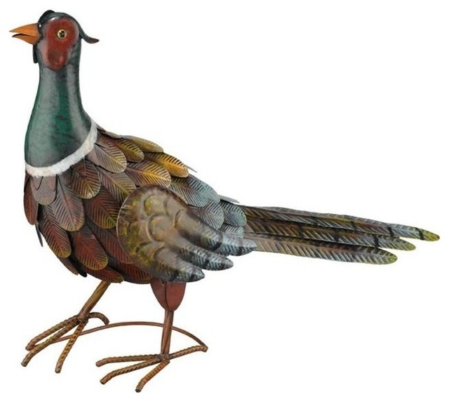 Regal Art And Gift Pheasant Decor Up Rustic Garden Statues And Yard