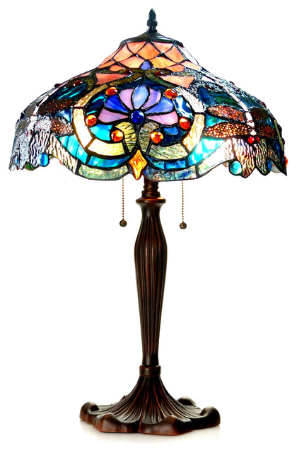 Lydia 2-Light Victorian Table Lamp.