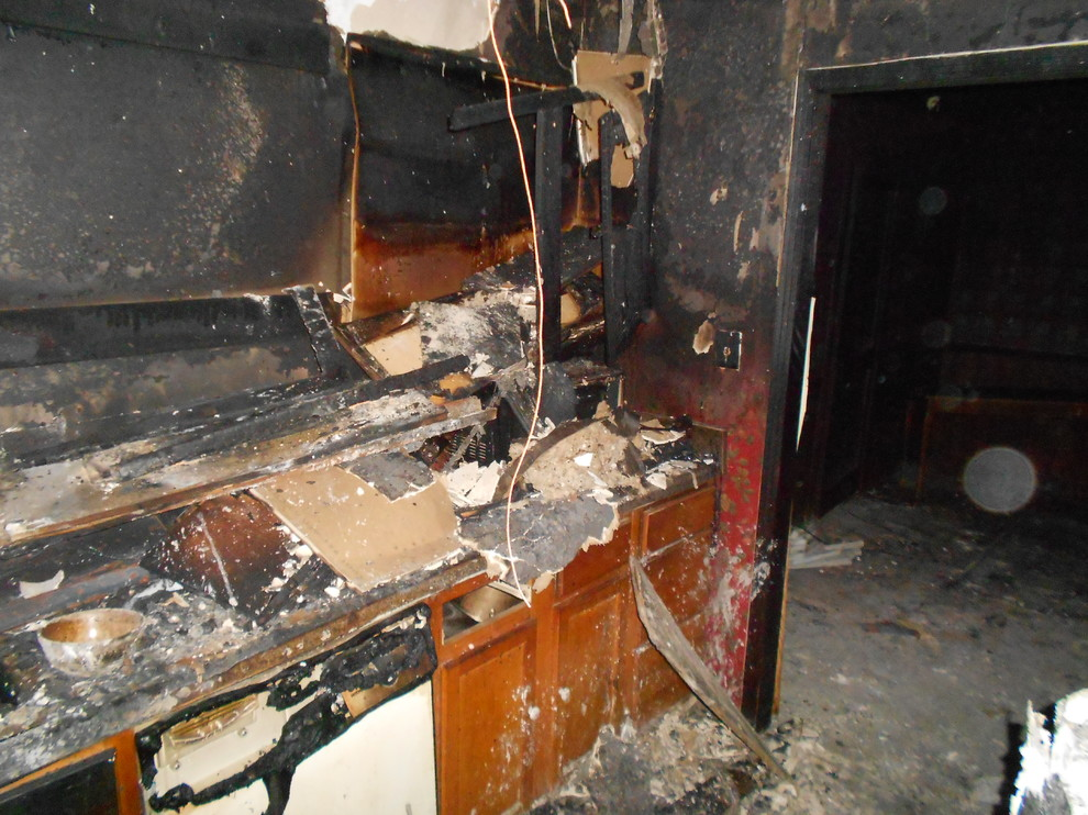 kitchen fire repair and remodel