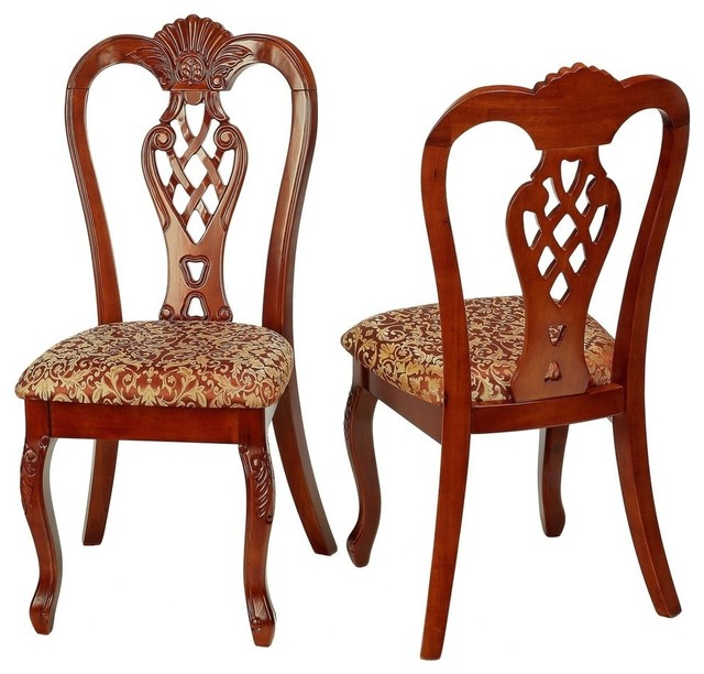 elisabetta dining chair  set of 2 - traditional - dining chairs
