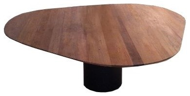 How was the top made on this table what type of wood was for 3 sided dining room table