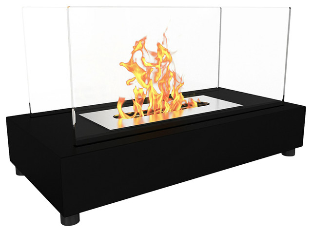 Regal Flame Avon Tabletop Portable Bio Ethanol Fireplace, Black.